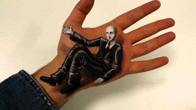 illuzió hihetetlen festés testfestés érdekes