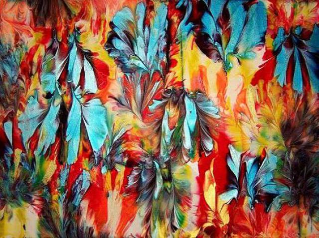 festmény mellével festett érdekes