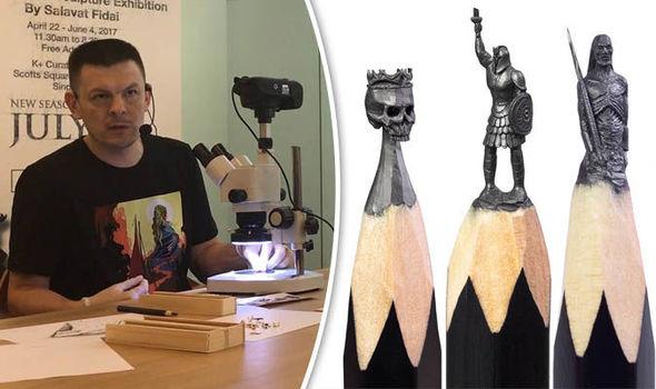 szobrászat Salavat Fidai grafithegy Trónok Harca Game of thrones miniatűr