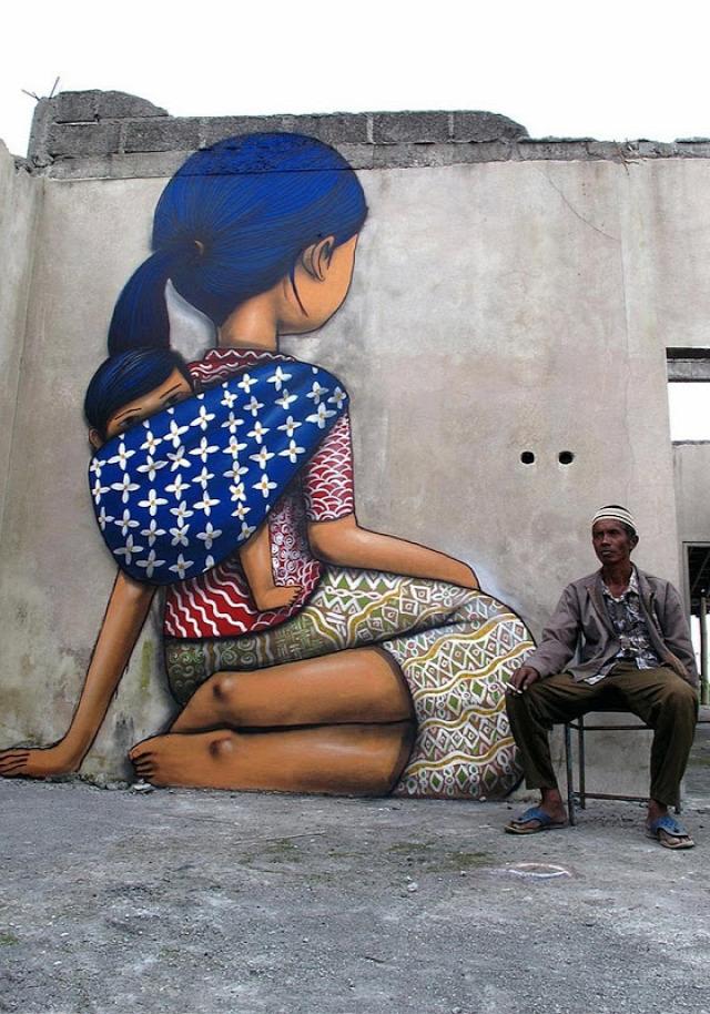 utcai művészet falfestés grafiti