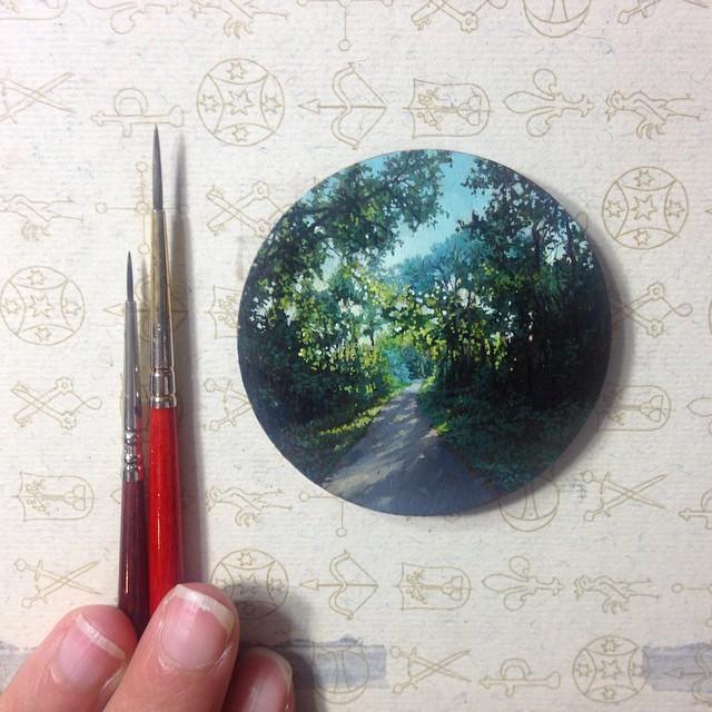 miniatűr festmény festészet hihetetlen érdekes