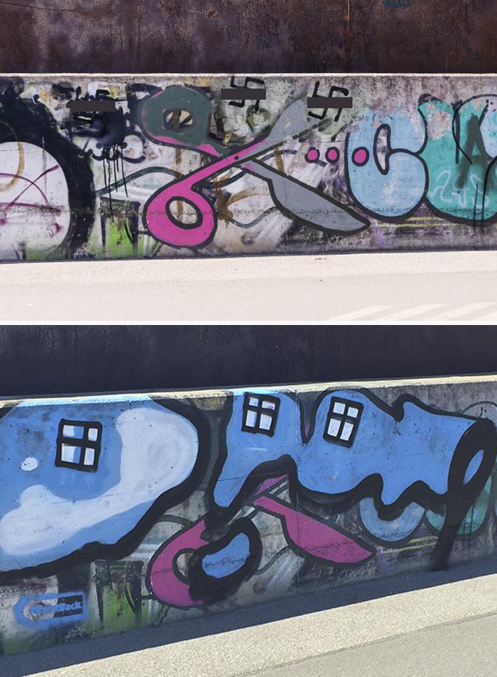 utcai művészet graffiti street art falfestés