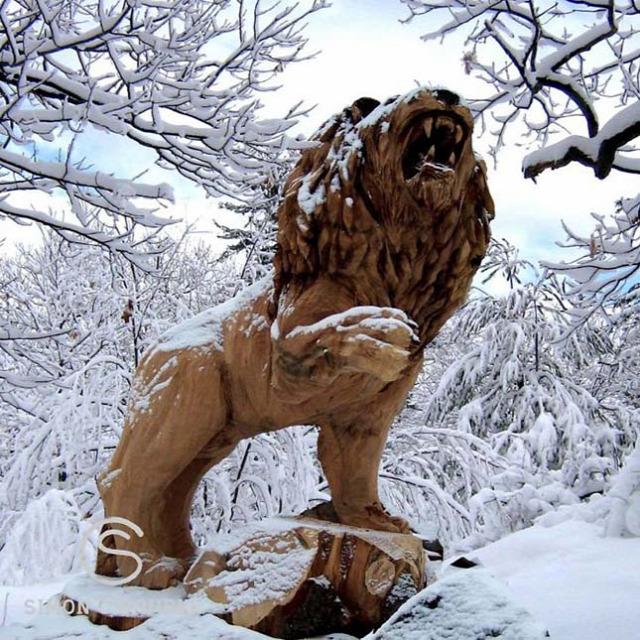 művészet érdekes szobrok szobrászat láncfűrész