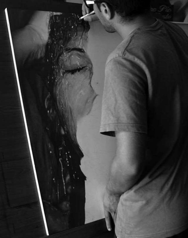 művészet portré hiperrealista rajz diego fazio