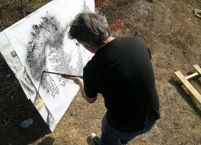 állatportré érdekes puskával lött walton creel művészi