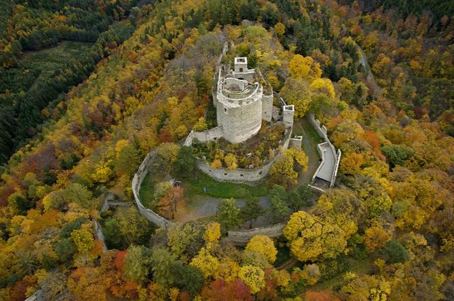 vártúra rom várrom vár Burgenland kirándulás