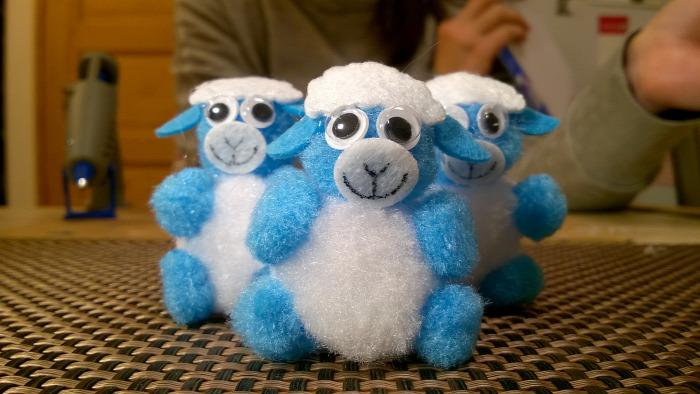 DIY könnyű ragasztópisztoly ünnepek bárány húsvét kreatív gyerekekkelállat