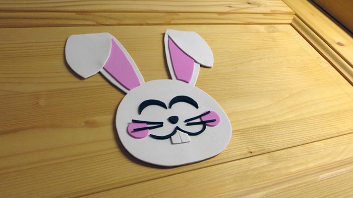 húsvét DIY díszek tavasz ünnepek kreatív ötletek állat olcsó könnyű gyerekekkel ablakmatrica dekorgumi dekoráció hűtőmágnes kreatív