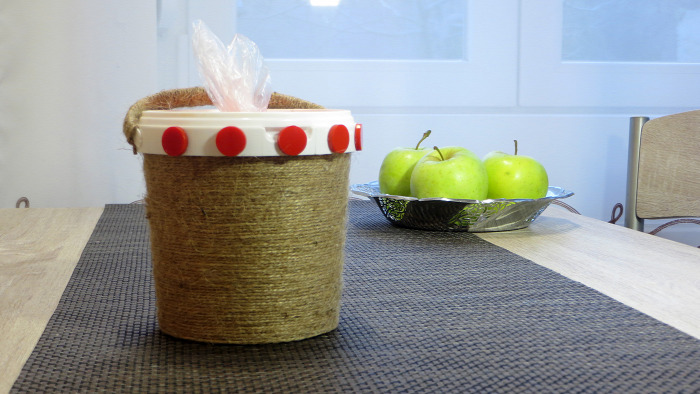 zacskó DIY használati tárgy konyha kreatív ötletek olcsó spárga újrahasznosítás tejfölös doboz könnyű gyors