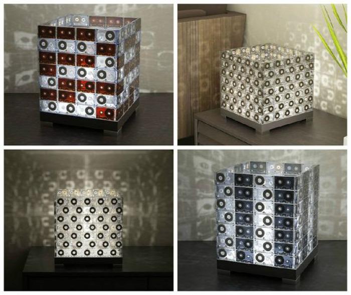 kazetta kreatív kreatív ötletek dekoráció DIY fülbevaló geek közepes olcsó recycle tolltartó újrahasznosítás 80-as évek retro