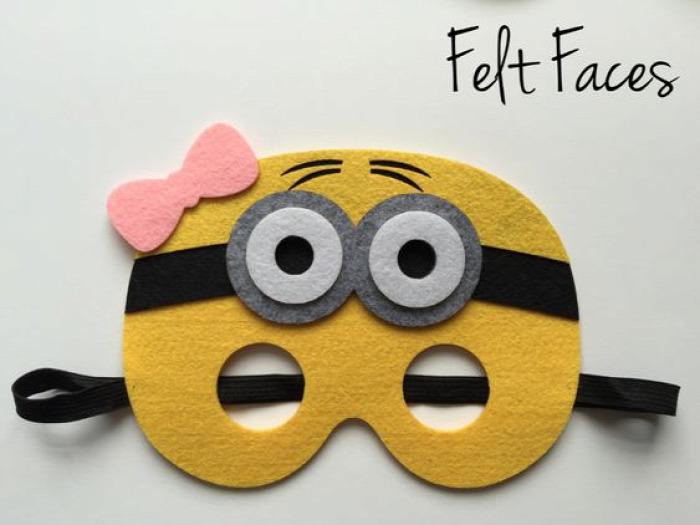 Minion Minions Minionok Gru Despicable Me farsang család DIY együtt geek gyerekekkel jelmez közepes maszk álarc