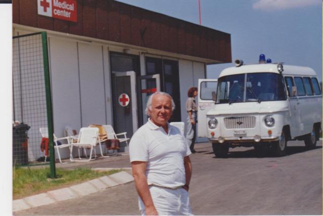 Dr. Nemes György 1986 Magyar Nagydíj Hungaroring mentés egészségügyi