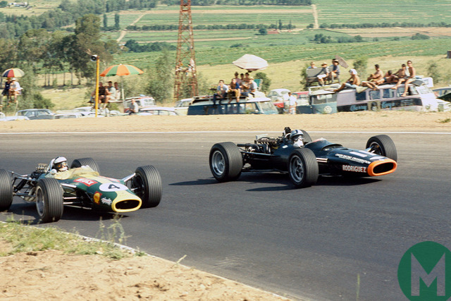 Jim Clark Lotus 1968 Forma-2 Hockenheim Colin Chapman Kurt Ahrens Derek Bell Chris Amon Gold Leaf