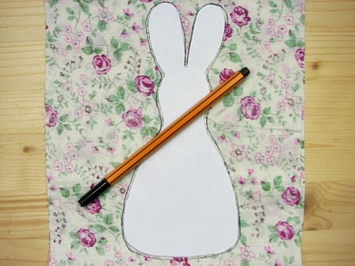 húsvét textilfigura
