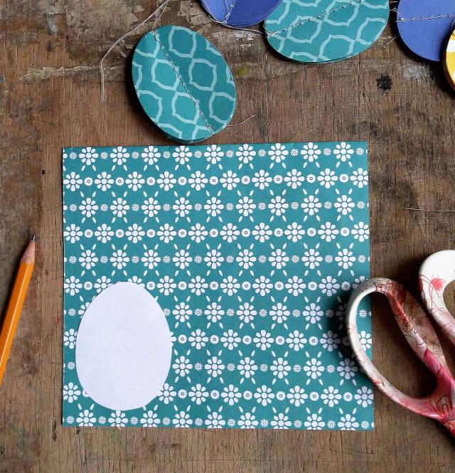 DIY csinaldmagad papír varrás húsvét tojás dekor