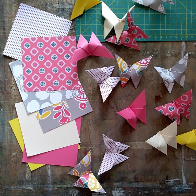 DIY origami papír tavasz dekor pillangó csináldmagad