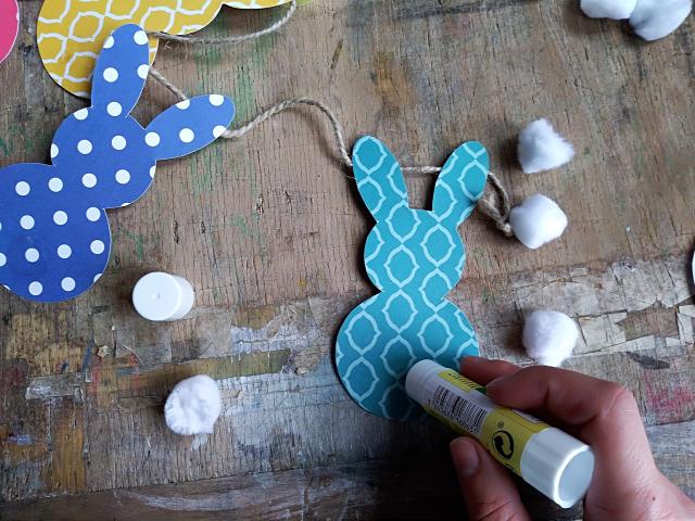 DIY csinaldmagad papír sablonnal nyuszi húsvét