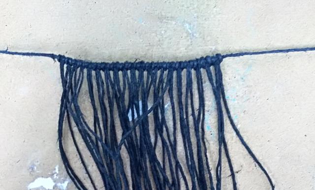 DIY csináldmagad makramé karkötő csomózás ásvány