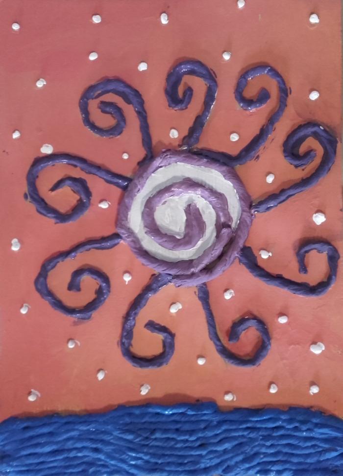 akril festészet papírmasé