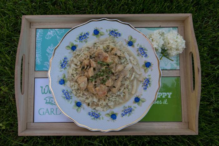 csirke csirkemell karfiol rizs gluténmentes laktózmentes egyszerű gyors finom könnyed főétel