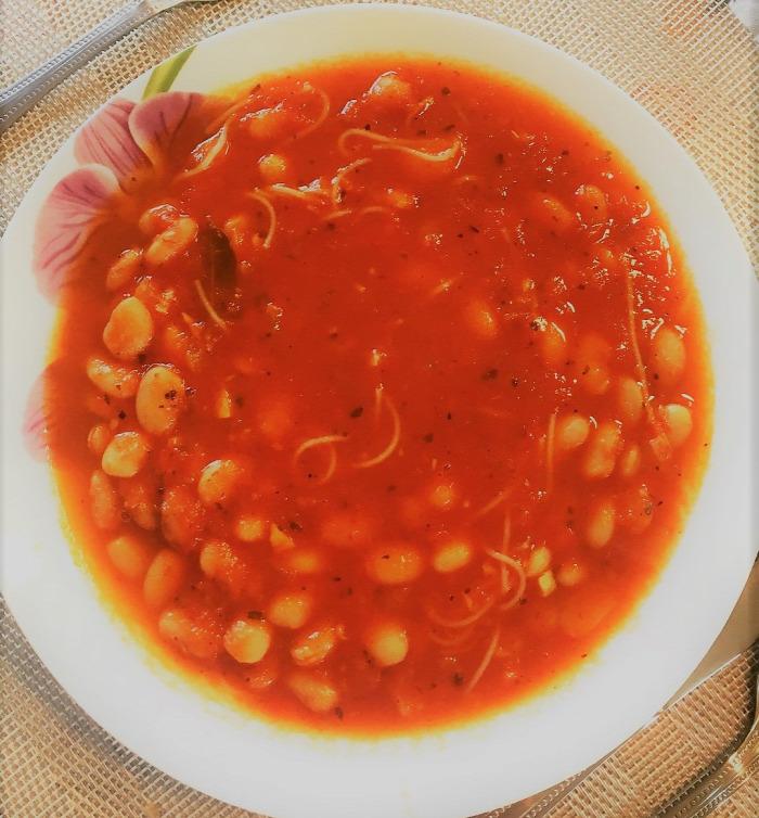 bableves bazsalikomos bableves tavaszi bableves leves finom egészséges gluténmentes laktózmentes könnyed