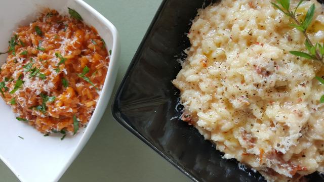 rizottó amatriciana rizs paradicsom pancetta