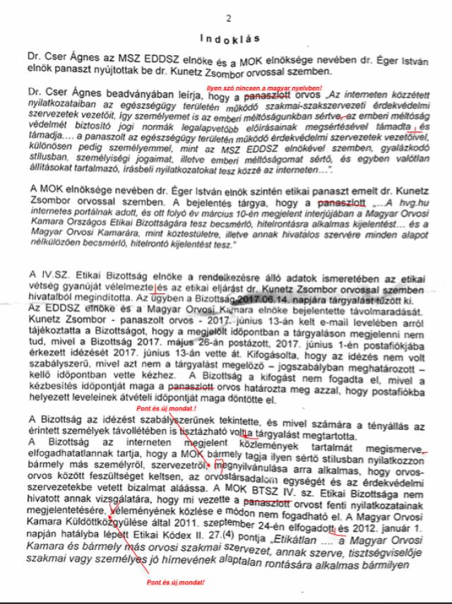 #égeristván #magyarorvosikamara #cserágnes #etikaivizsgálat #felségsértés #megrovás