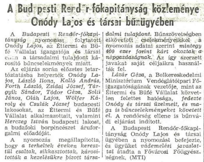 Bara Margit Onódy Lajos Kádár-korszak kommunizmus kultúra történelmi platz