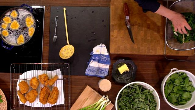 rántott csirke spenót főzelék
