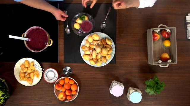 ősz sült alma bodzabogyó leves édes
