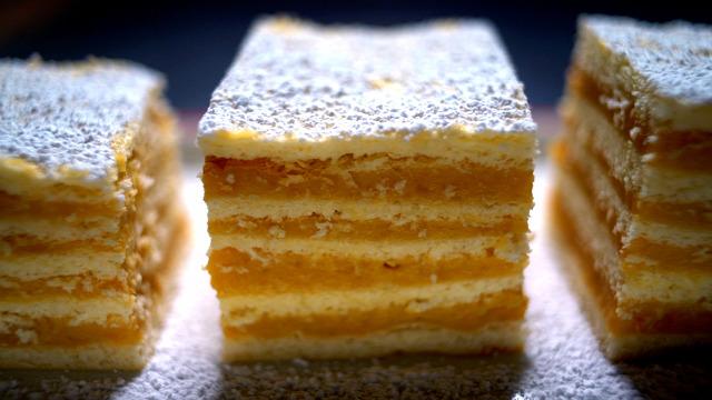 karamellás hatlapos sütemény