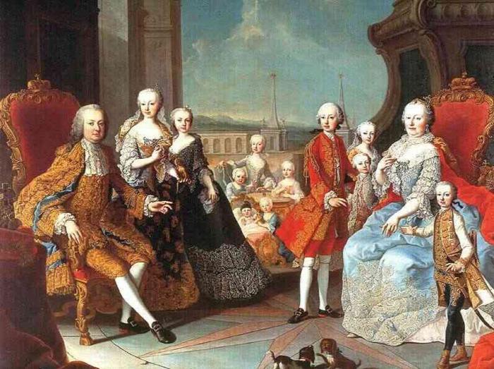 Mária Terézia III. Károly Pragmatica Sanctio Lotharingiai Ferenc István II. József Mária Karolina Marie Antoinette XVI. Lajos Mária Krisztina History