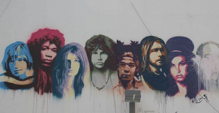 Janis Joplin Kurt Cobain Jim Morrison Brian Jones Jimi Hendrix Amy Winehouse CoolTour