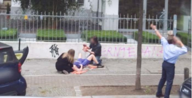 The miracle of birth caught on Google Street View.