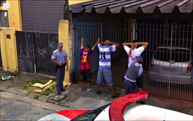 Cops making an arrest.