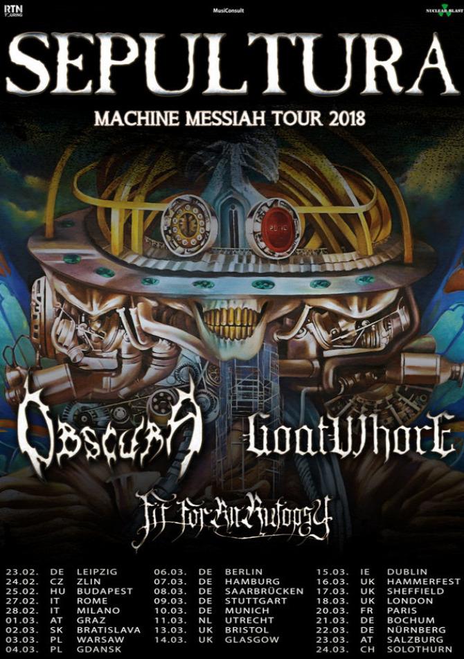 Sepultura death metal black metal trash metal Fit for an Autopsy Goatwhore Obscura Barba Negra