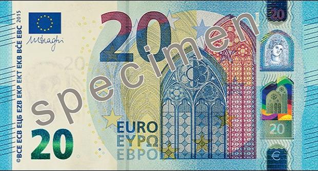 Az új 20 eurós - Forrás: Európai Központi Bank