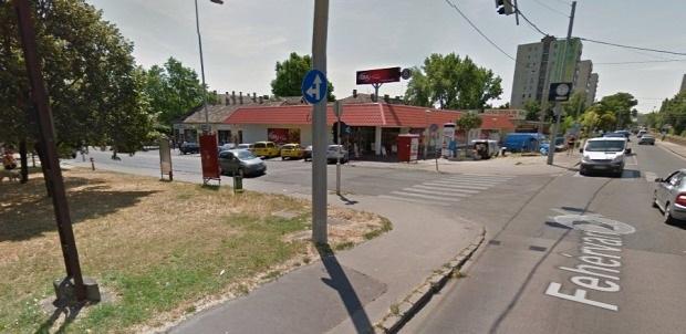 Ennek a CBA-nak jelenthet közvetlen konkurenciát a Lidl, ha megépül - Fotó: Google Maps/StreetView