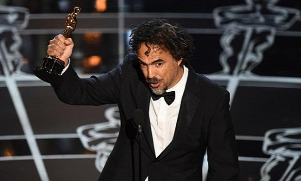 Alejandro González Iñárritu nyerte a legjobb rendezésért járó Oscart - Fotó: AFP