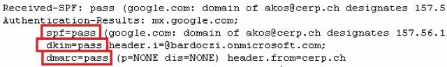 Gmail Labs hitelesítés DKIM DMARC SPF email spoofing középhaladó
