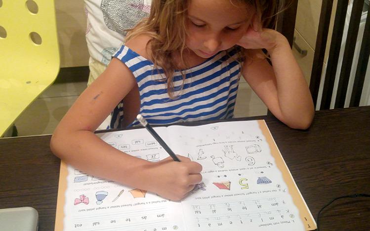 Tünde iskolakezdés iskolások nyár tanulás játék