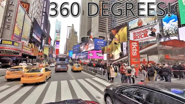 New York Times Square 360 fok körpanoráma gömbpanoráma