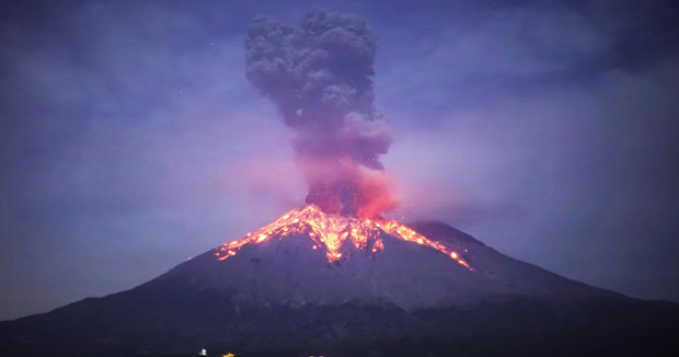 szakuradzsima vulkán kitörés