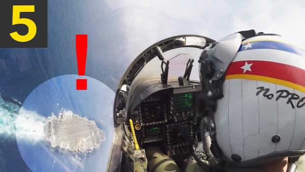 repülőgép hordozó landolás leszállás