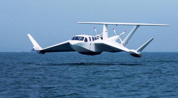 Airfis ekranoplán  párnahatás hajó repülőgép