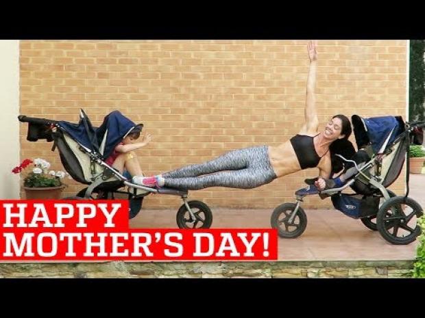 anya szülő gyerek torna edzés