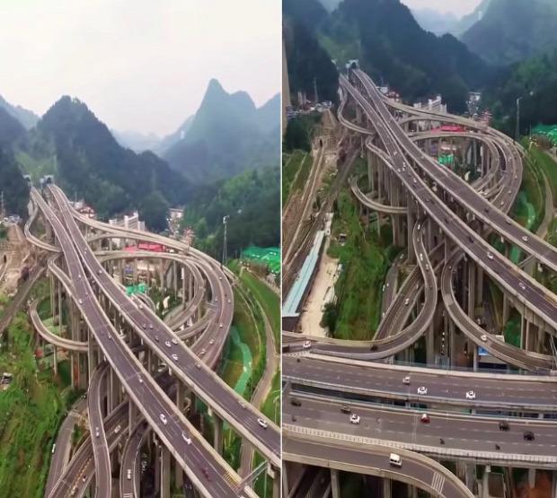 Kína autópálya csomópont