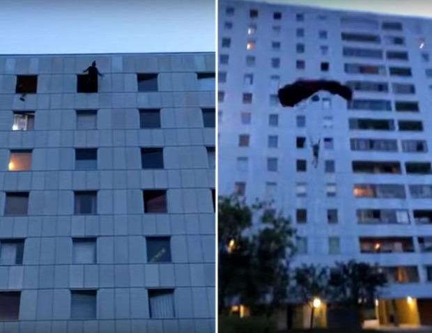 ejtőernyős bázisugro emeletes ház 13