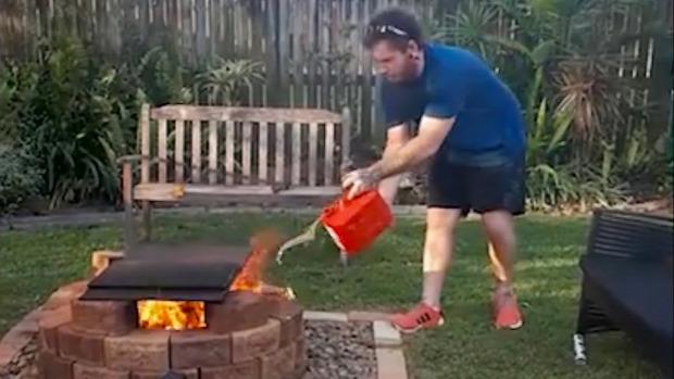 kert tűz benzin
