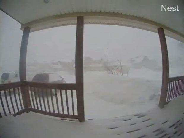 hó ház kamera ellep